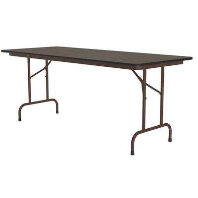 Correll CF2460M 01 Melamine Folding Table w/ 5/8 High Density Top, 24 x 60, Walnut on Sale