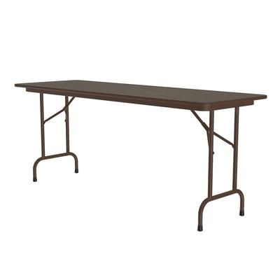 Correll CF2460PX 01 Folding Table w/ .75 High-Pressure Top, 24 x 60, Walnut on Sale