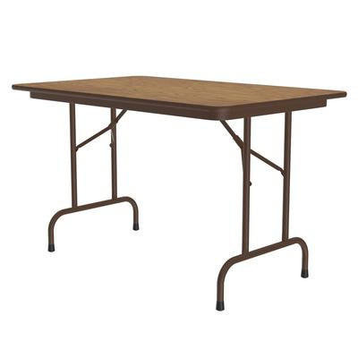 Correll CF3048PX 06 Folding Table w/ .75 High-Pressure Top, 30 x 48, Oak on Sale