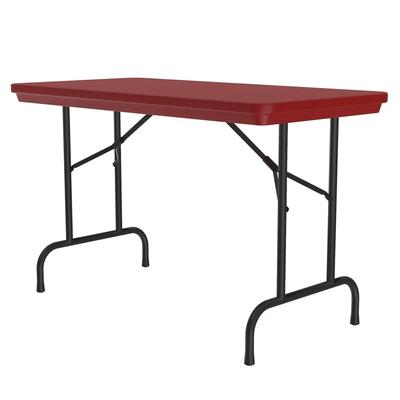 Correll R2448 25 Folding Seminar Table w/ Blow-Molded Top, 24 x 48, Red on Sale