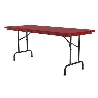 Correll R3060 25 Folding Seminar Table w/ Blow-Molded Top, 30 x 60, Red on Sale