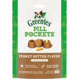 Greenies Pill Pockets Canine Real Peanut Butter Flavor Dog Treats, 30 capsules