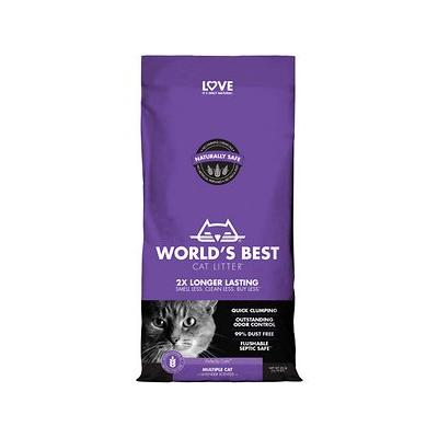 World's Best Cat Litter Lavender Scented Multiple Cat Clumping Formula, 28-lb bag