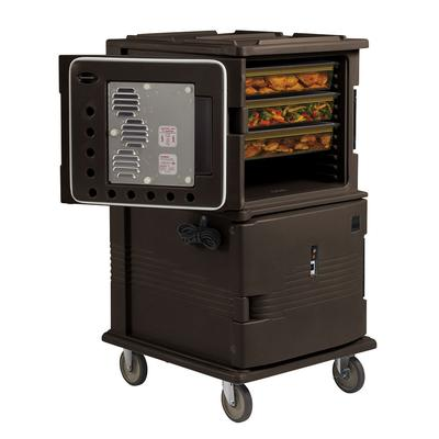 Cambro UPCHT1600HD131 Ultra Camcart Insulated Food Carrier w/ (24) Pan Capacity, Brown, HD Casters, 110v on Sale