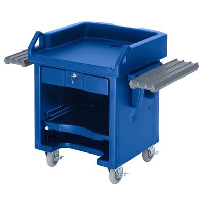 Cambro VCSWRHD186 Versa Cash Register Cart - 52 3/4x32 1/4x43 6 HD Casters, Navy Blue on Sale