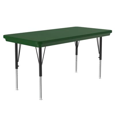 Correll AR2448-REC 29 Activity Table w/ Plastic Top, 48W x 24D, Green on Sale