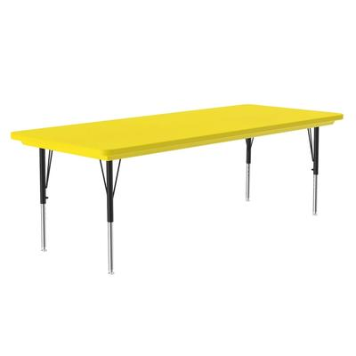 Correll AR3060-REC 28 Activity Table w/ Plastic Top, 60W x 30D, Yellow on Sale