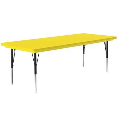 Correll AR3072-REC 28 Activity Table w/ Plastic Top, 72W x 30D, Yellow on Sale