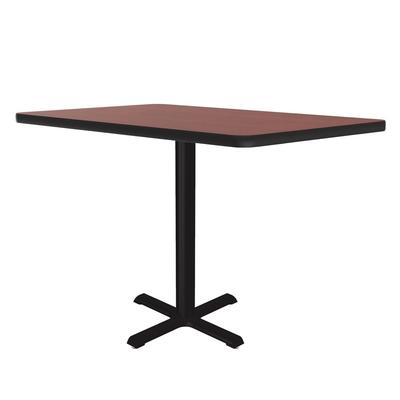 Correll BXB24S 21 24 Square Bar Cafe Table w/ 1.25 Pressure Top, 42 H, Cherry/Black on Sale