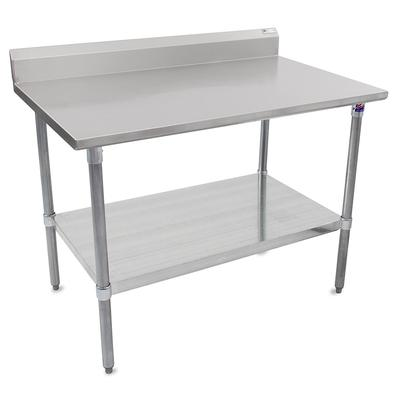 John Boos ST6R5-2436GSK 36 16 ga Work Table w/ Undershelf & 300 Series Stainless Top, 5 Backsplash on Sale