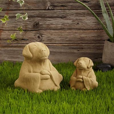 Zen Dog Garden Sculpture