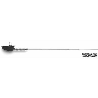 Universal Side-Mount Antenna Stainless steel, 3-section