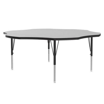 Correll AM60-FLR 15 60 Flower-Shaped Activity Table w/ Melamine Top, Gray Granite on Sale