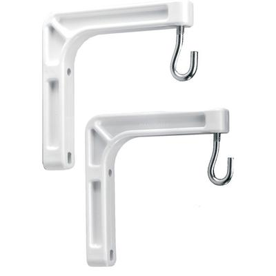 Da-Lite Screens 40932 Pair White #6 Wall Mt. Brackets for Model B Screen