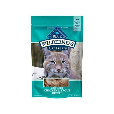 Blue Buffalo Wilderness Chicken & Trout Grain-Free Cat Treats, 2-oz bag