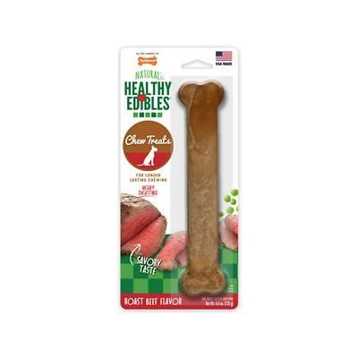 Nylabone Healthy Edibles Longer Lasting Roast Beef Flavor Dog Bone Treat, Large