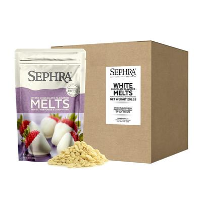 Sephra 28009 White Chocolate Melts, Fountain Ready, Hardens Quickly, (10) 2 lb Bags on Sale