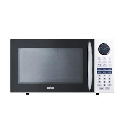 """Summit SM1102WH 21 1/8"""" Countertop Microwave - White, 1000w, 115v"""