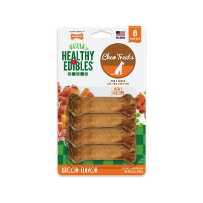 Nylabone Healthy Edibles Bacon Flavor Dog Bone Treats, Petite, 8 count