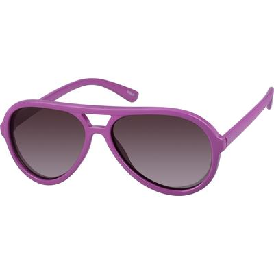 Zenni Women's Aviator Sunglasses Purple Plastic Frame