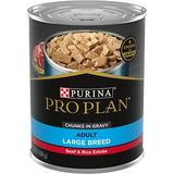 Purina Pro Plan Focus Adult Large Breed Beef & Rice Chunks Canned Dog Food, 13-oz, 12ct