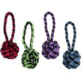 Multipet Nuts for Knots Heavy Duty Rope with Tug Dog Toy, Color Varies, Small