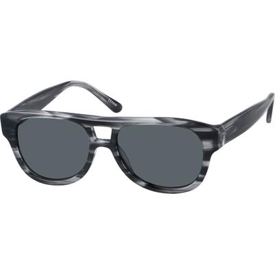 Zenni Women's Sunglasses Black P...