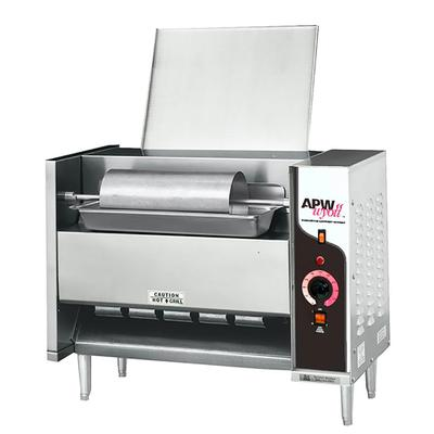 APW M-95-3 Vertical Toaster - 1300 Bun Halves/hr w/ Butter Spreader, 208v/1ph on Sale