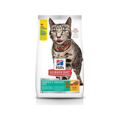 Hill's Science Diet Adult Perfect Weight Chicken Recipe Dry Cat Food, 7-lb bag