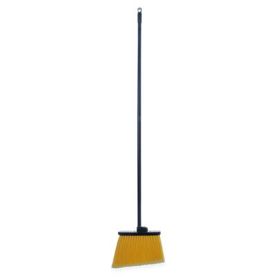 Carlisle 3686500 56L Duo-Sweep Lobby Broom w/ Angle Bristles & Black Handle on Sale