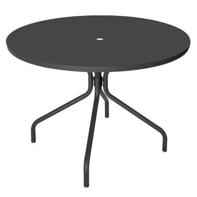 emu 823 Solid Table, 36Diameter, Umbrella Hole, Solid Top, Iron on Sale