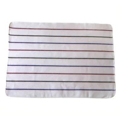 Chef Revival 703HB28 White Terry Cloth Towel w/ Multi-Colored Strips, 20 x 28 on Sale