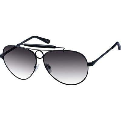 Zenni Men's Sunglasses Black Met...