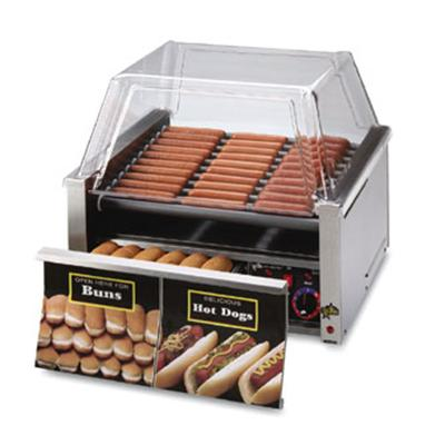 "Star Grill-Max 24"" W Hot Dog Roller Grill With Bun Drawer (30CBD) - Stainless Steel"