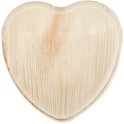 "Eco-gecko 6 1/2"" Heart Sustainable Palm Leaf Plate - 100/Case"