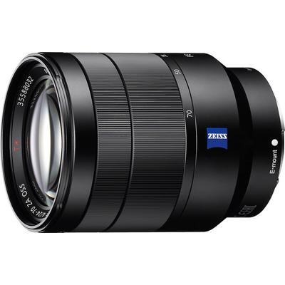 compatible with Sony E-mount mirrorless cameras (optimized for full-frame cameras),dust- and moisture-resistant design for shooting in adverse environments,built-in Optical SteadyShot image stabilization allows in-focus shots with slower shutter speeds