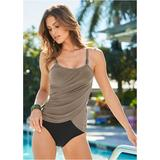 Slimming Draped One-Piece One-Piece Swimsuits & Monokinis - Brown