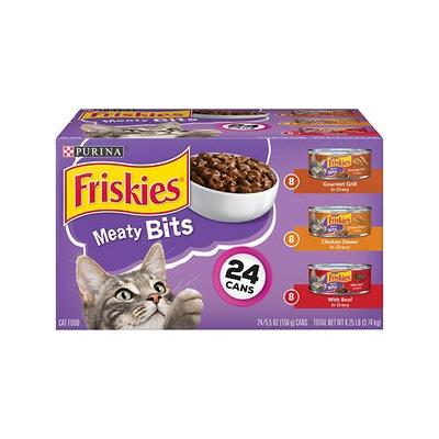Friskies Meaty Bits Variety Pack Canned Cat Food, 5.5-oz, case of 24