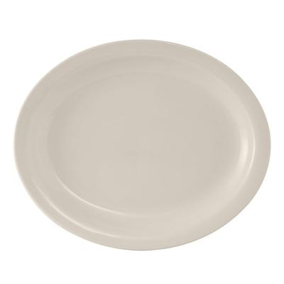 Tuxton TNR-040 American White Narrow Rim Platter, Nevada, Oval on Sale