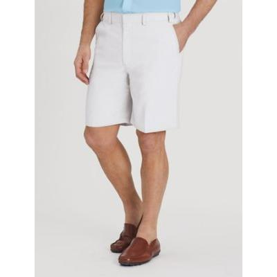 Men's Adjust-A-Band Relaxed-Fit Microfiber Shorts, White 50