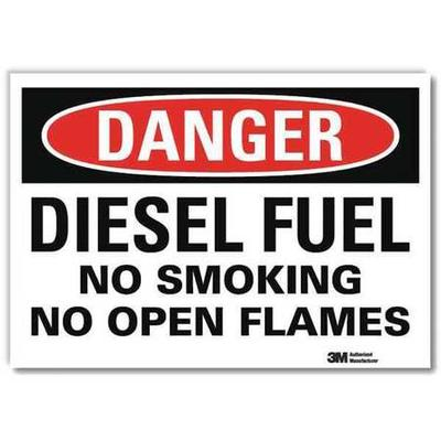 LYLE U1-1037-RD_7X5 Danger Sign,7x5 In.,English