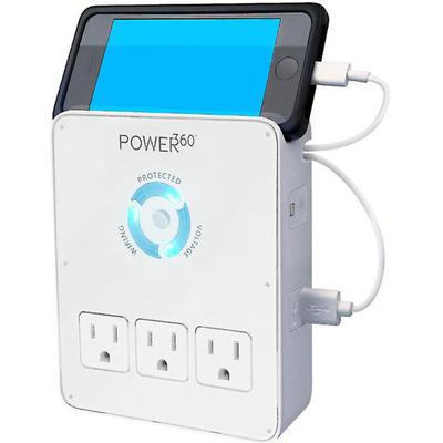 Panamax Power 360 Dock wall outlet (6 AC and 2 USB outlets)