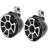 Wet Sounds Rev 10 B-SC V2 10 Black Marine Tower Speakers Swivel