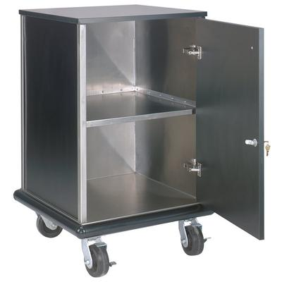 "Advance Tabco AMD-2B Mobile Stainless Steel and Black Locking Cash Register Stand - 24 1/2"" x 23 1/2"" x 40 3/4"""