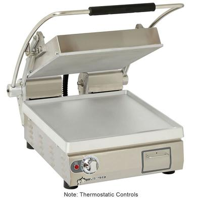 Star PST14T Single Commercial Panini Press w/ Aluminum Smooth Plates, 120v