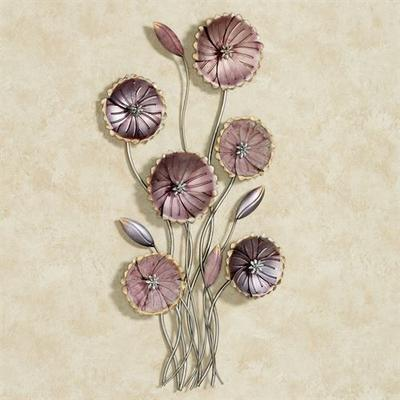 Charming Floral Array Wall Art Purple , Purple