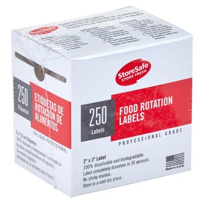 Cambro 23SLINB250 StoreSafe Food Rotation Blank Labels - 2x3 250 Per Roll on Sale