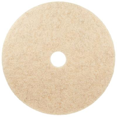"3M 3500 24"" Natural Blend Tan Heavy Duty Burnishing Floor Pad - 5/Case"