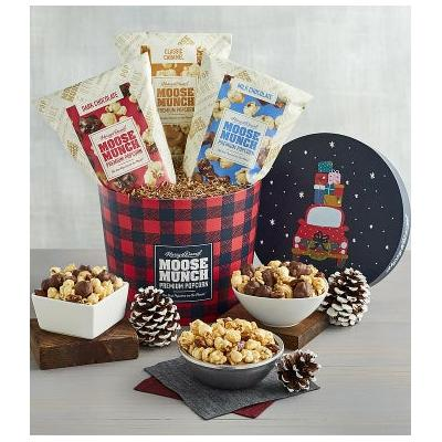Moose Munch Premium Popcorn Holiday Drum