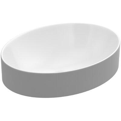 Kohler Vox Oval Vitreous China Vessel Sink In White With Overflow Drain